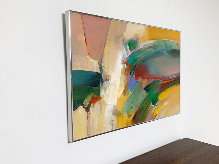 Mid-Century Modern Abstract Expressionist Painting by Wilfred Lang, Ca. 1970s For Sale