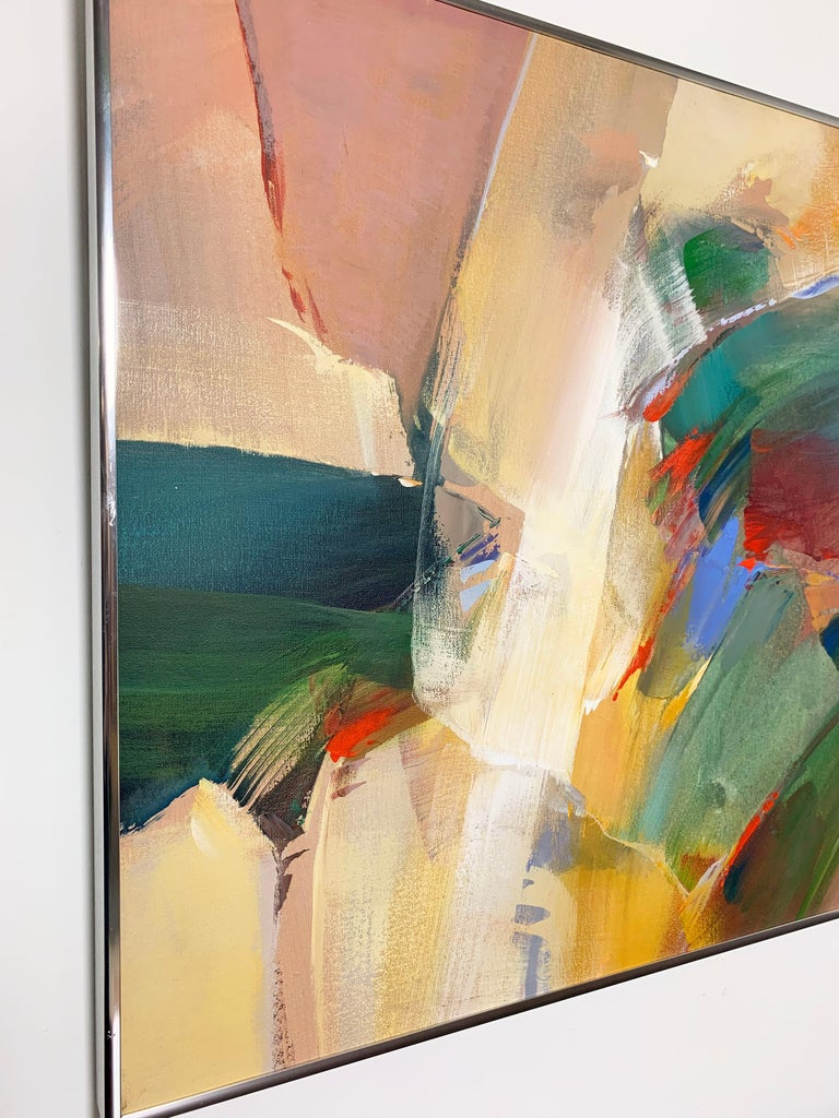 American Abstract Expressionist Painting by Wilfred Lang, Ca. 1970s For Sale