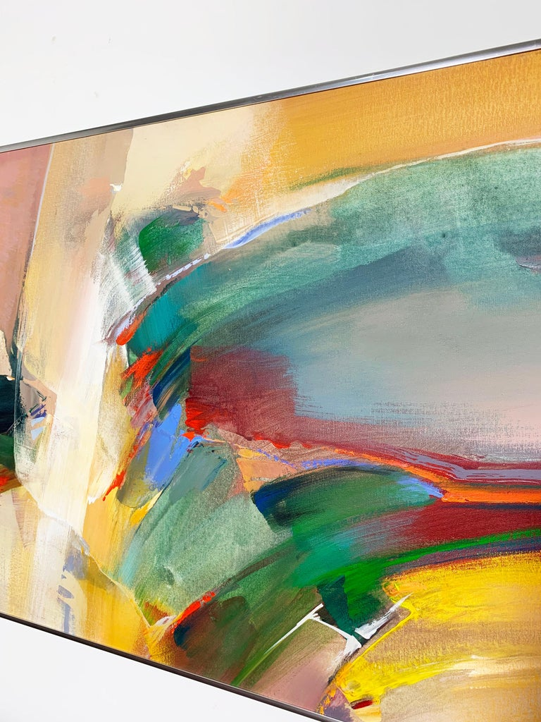 Abstract Expressionist Painting by Wilfred Lang, Ca. 1970s In Good Condition For Sale In Peabody, MA