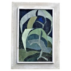 Abstract Expressionist Painting of Foliage, Circa 1940's