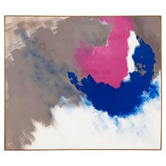 Abstract Expressionist Painting Signed Vivona, D. 1979-1980