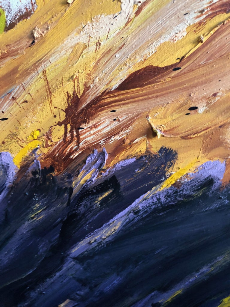 Mid-Century Modern Abstract Expressionist Seascape Diptych by Vera Klement, Oil and Encaustic, 1978 For Sale