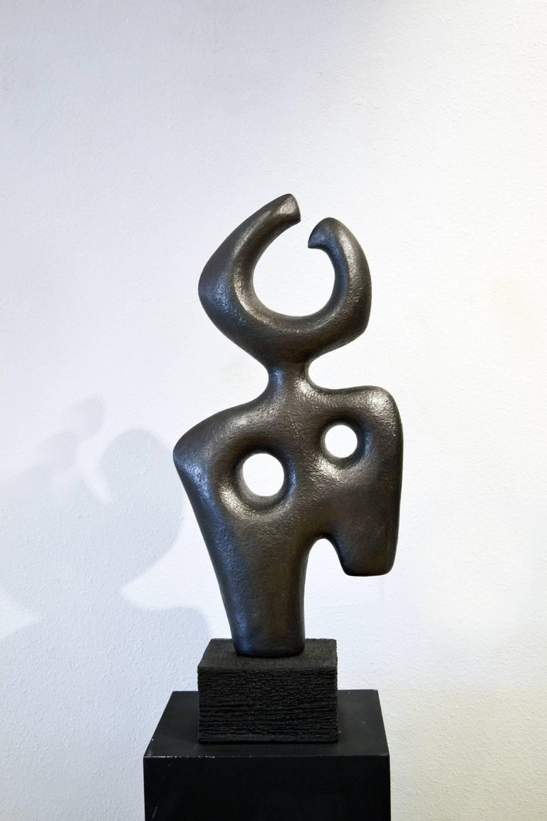 Hand-Carved Abstract Figurative Sculpture No. 2 by Birgit Piskor 'Canada' For Sale