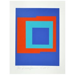 Abstract Geometric Danish Screen Print by Ib Geertsen, Signed