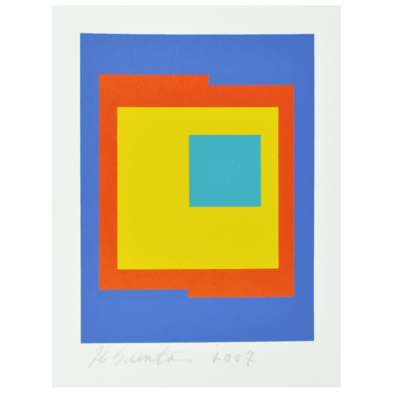 Abstract Geometric Danish Screen Print by Ib Geertsen, Signed