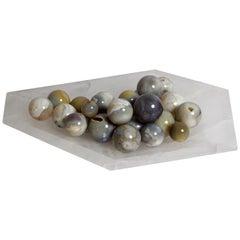 Abstract Geometric Solid Quartz Bowl