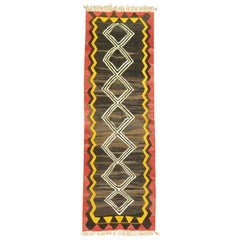 Abstract Geometric Asian Kilim Runner
