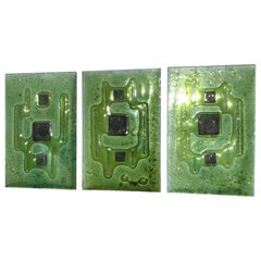 Abstract Glass Panels