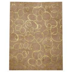 Abstract Handmade Rug Silk and Wool Design