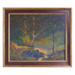 Abstract/ Impressionist Landscape by Russian/American William N. Horwitz, c 1924