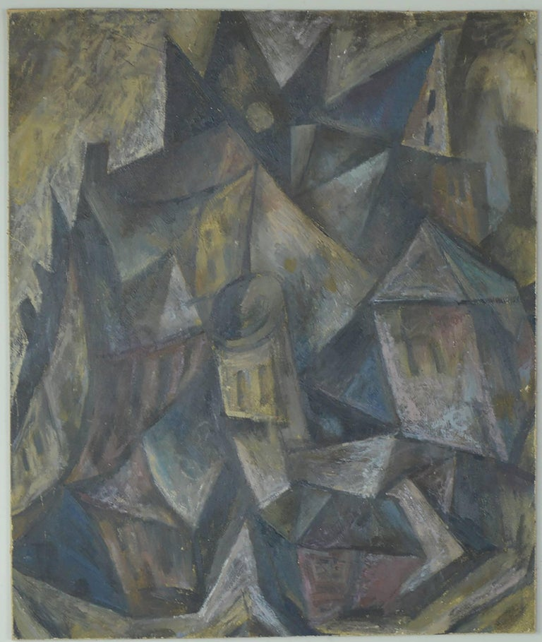 Modern Abstract Landscape, David Lord, circa 1960 For Sale