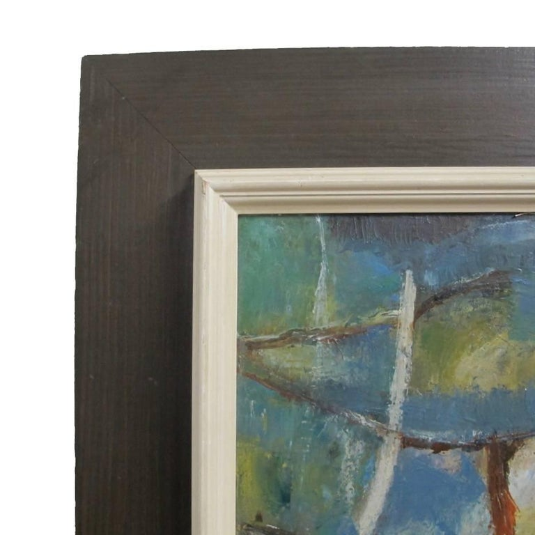 Abstract Landscape Painting, California Artist 20th Century In Excellent Condition For Sale In San Francisco, CA