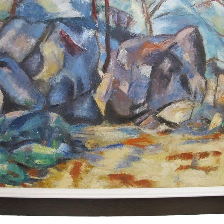 Canvas Abstract Landscape Painting, California Artist 20th Century For Sale