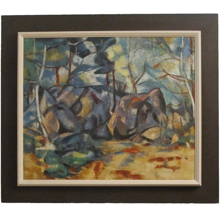 Abstract Landscape Painting, California Artist 20th Century For Sale