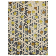 New Contemporary Moroccan Area Rug with Abstract Scandinavian Modern Landscape