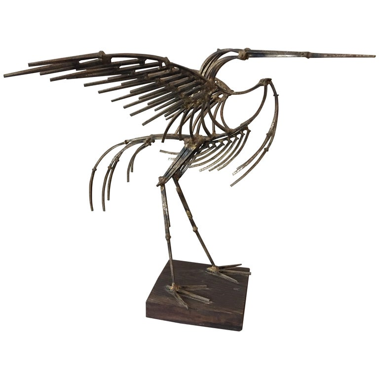 Abstract Large Bird Nail Sculpture For Sale