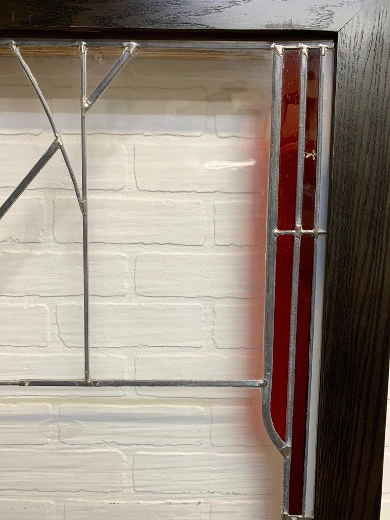 Abstract Leaded Glass Window For Sale 2