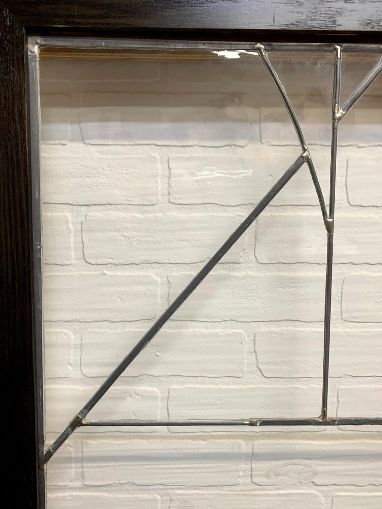 Abstract Leaded Glass Window For Sale 3