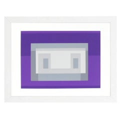 Abstract Lithograph by Josef Albers from Formulation and Articulation