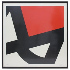 Abstract Lithograph by Pierre Clerk