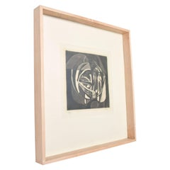 Abstract Lithograph by Rodolfo Nieto Signed Pencil 7/10 Mexico, 1970s