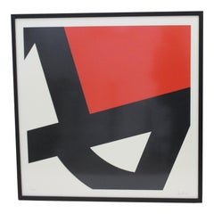 Abstract Lithograph Signed by the Artist, 1979