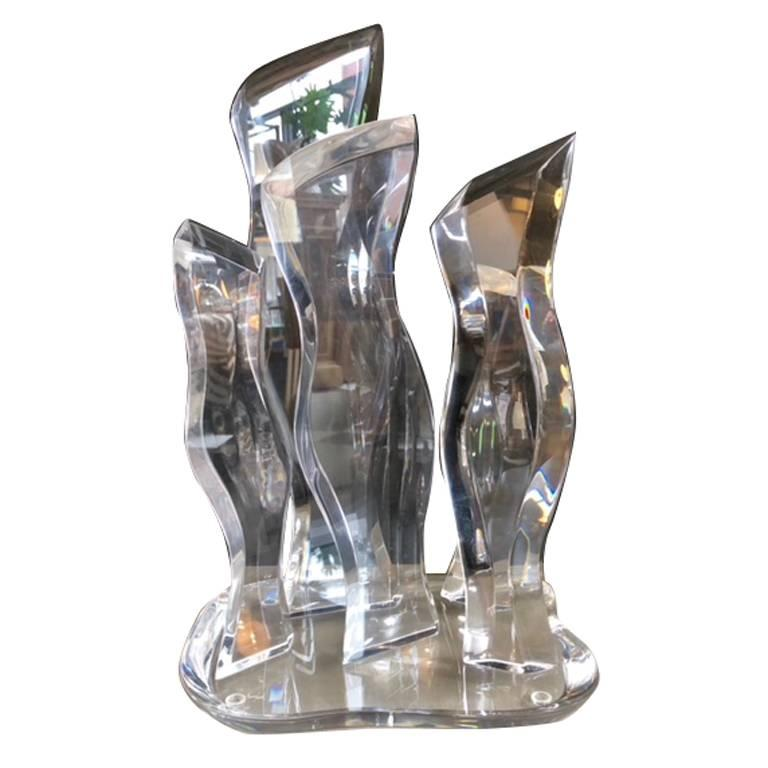 Abstract Lucite Sculpture by Van Teal