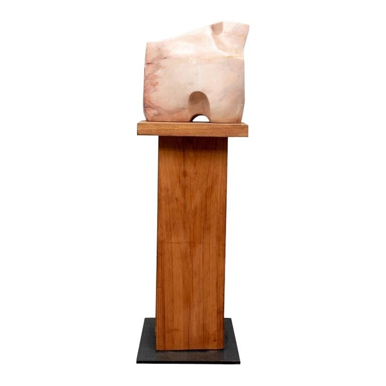 """Abstract Marble Sculpture, """"Sun Temple"""" After Barbara Hepworth"""
