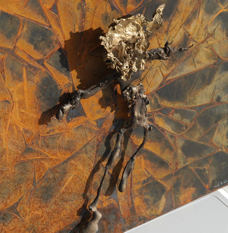 Modern Abstract Metal Relief by Navid Ghedami For Sale