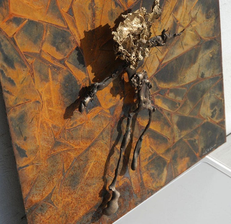 North American Abstract Metal Relief by Navid Ghedami For Sale