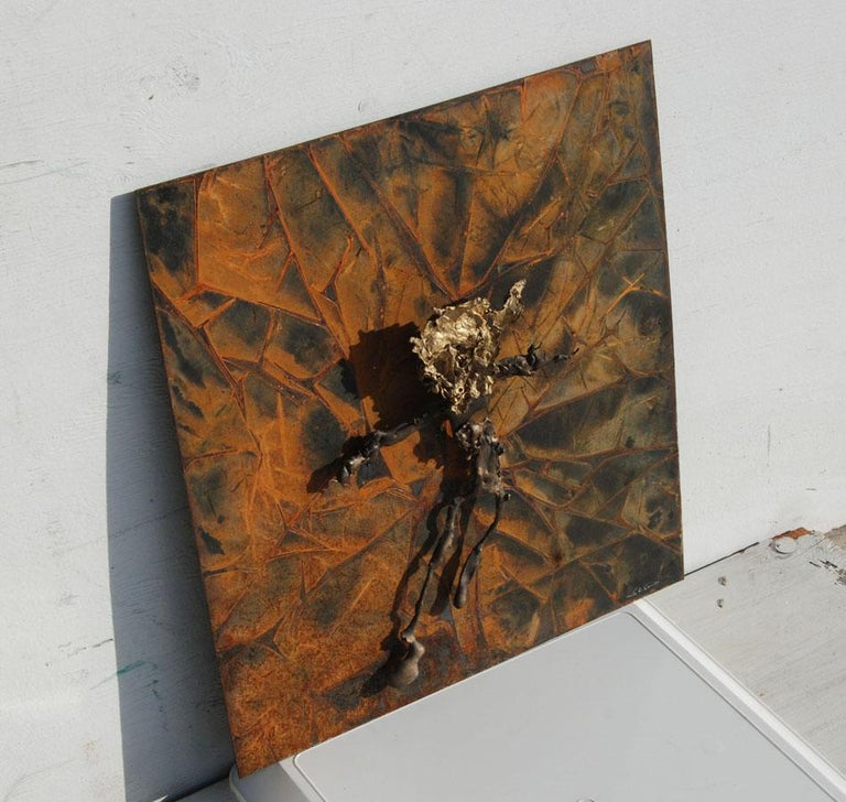 Abstract Metal Relief by Navid Ghedami In Good Condition For Sale In Pasadena, TX