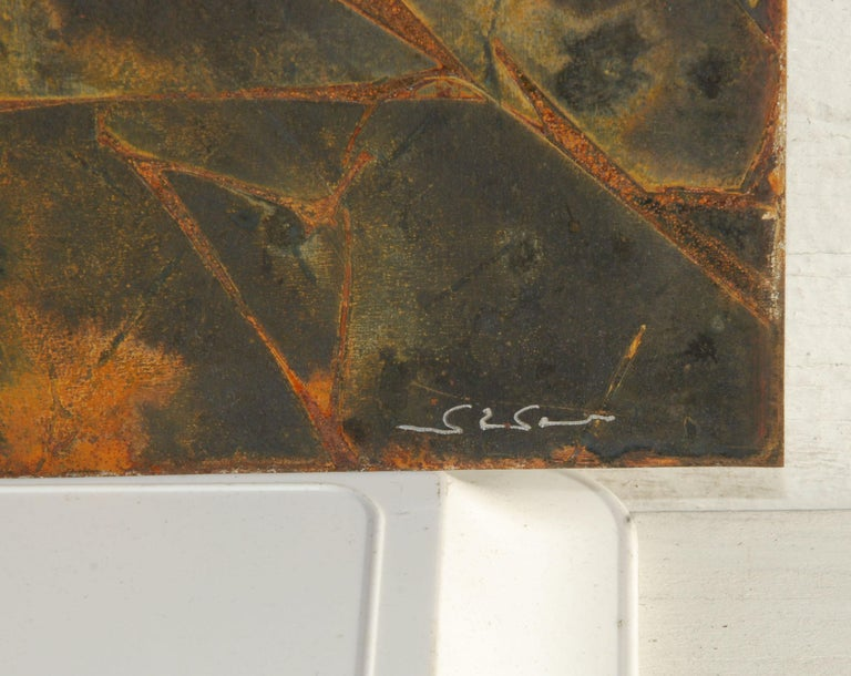 Abstract Metal Relief by Navid Ghedami For Sale 1