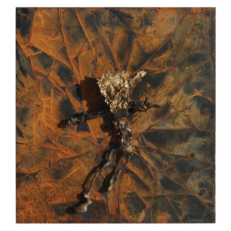 Abstract Metal Relief by Navid Ghedami For Sale
