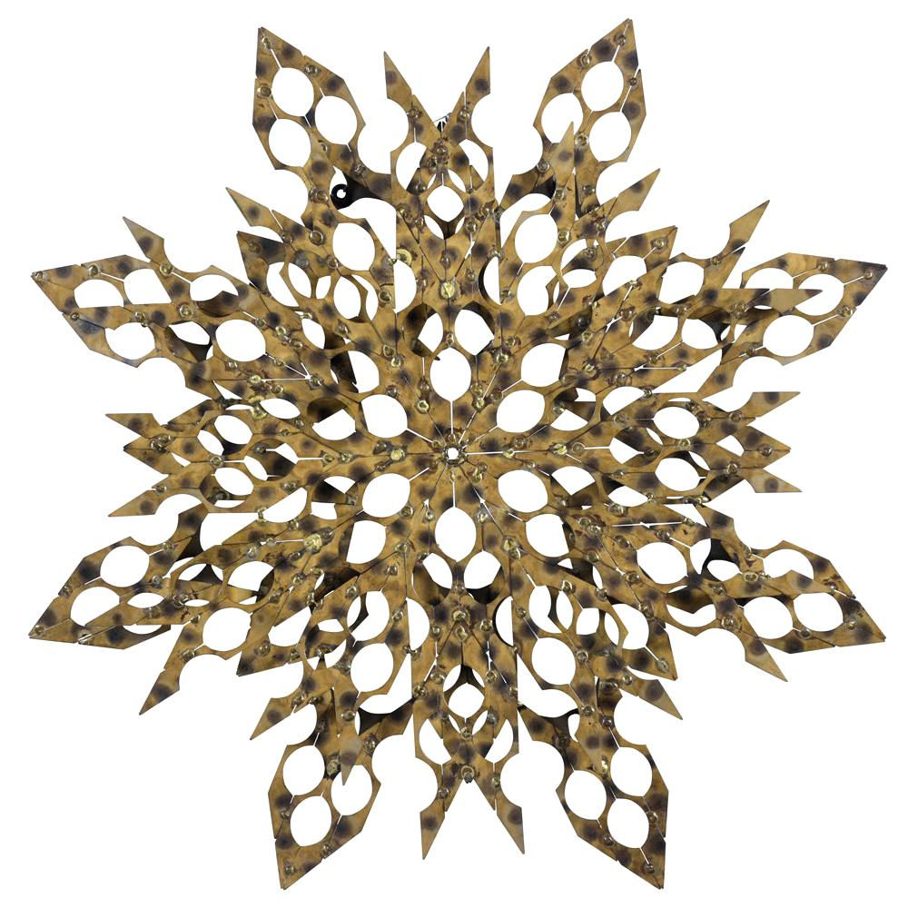 Abstract Mid-Century Modern Metal Wall Sculpture
