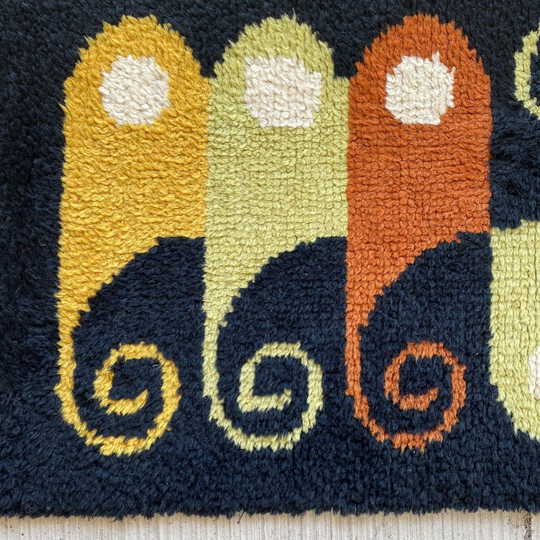 Mid-Century Modern Abstract Midcentury Wool Rug For Sale