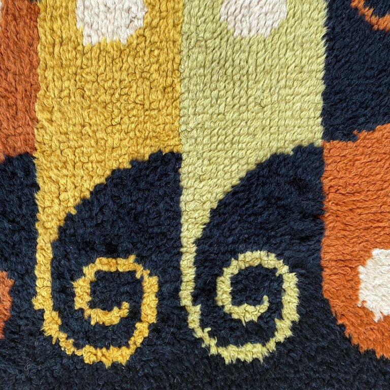Mid-20th Century Abstract Midcentury Wool Rug For Sale