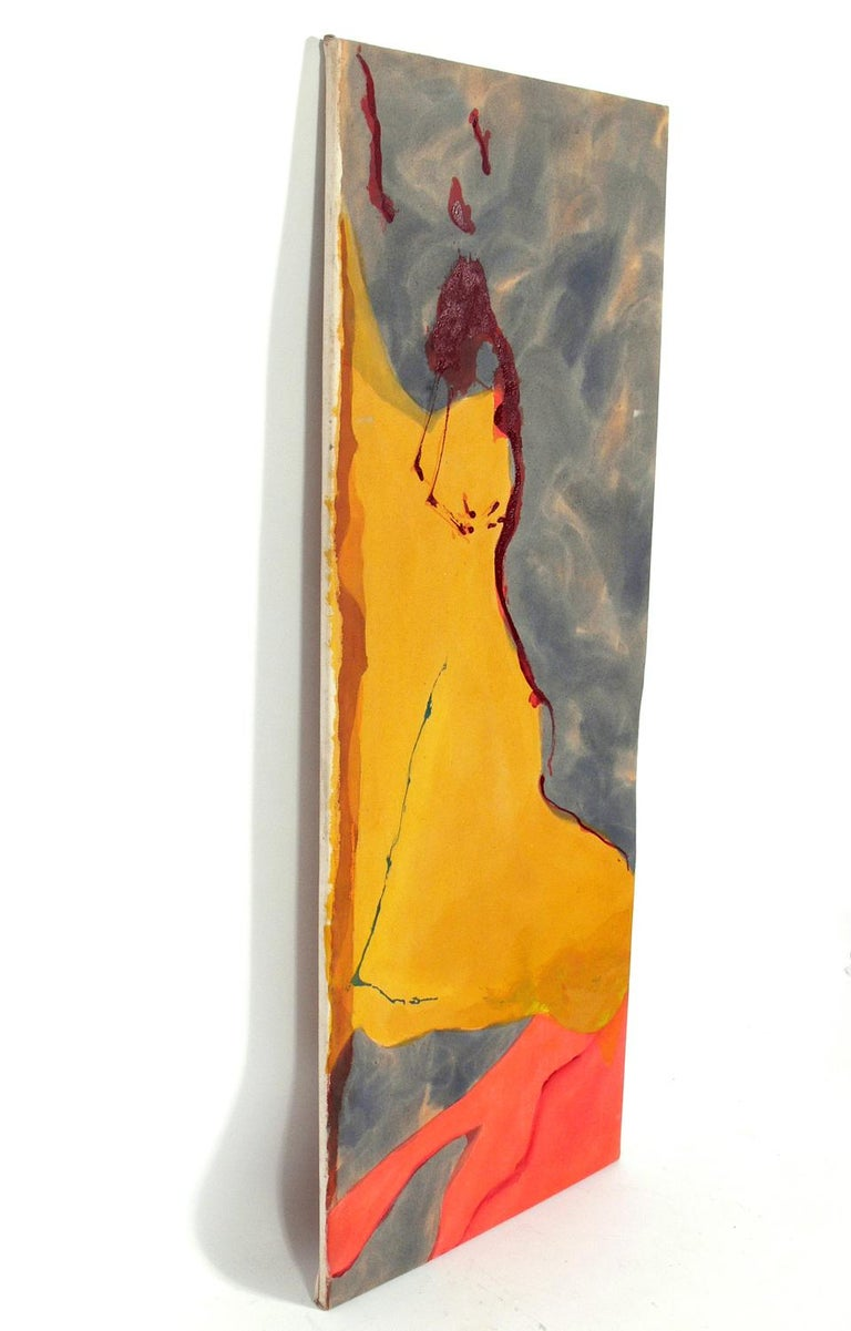 Mid-Century Modern Abstract Midcentury Painting by Claffy Williams For Sale