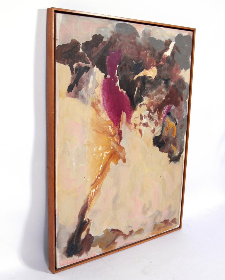 American Abstract Midcentury Painting by Claffy Williams For Sale