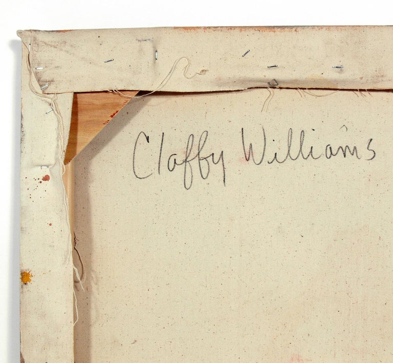 Abstract Midcentury Painting by Claffy Williams In Good Condition For Sale In Atlanta, GA