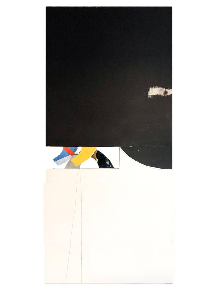 1971, acrylic on board with mirror and plexi glass in 2 pieces, overall 100 x 48.25 inches, signed, titled, and dated on reverse.  Eric Atkinson is a major Canadian abstract landscape painter, whose extensive career as an artist and art educator