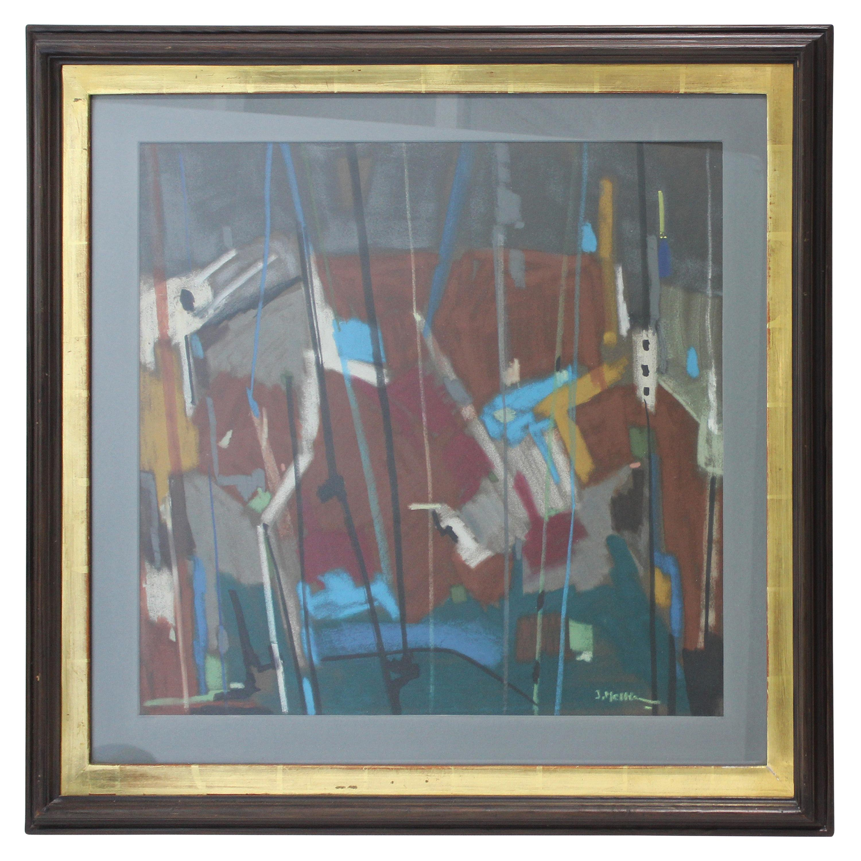 Abstract Mixed-Media Painting