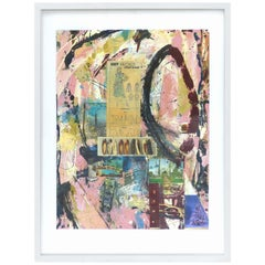 Abstract Mixed-Media Painting by William Phelps Montgomery 'Stitch in Time'