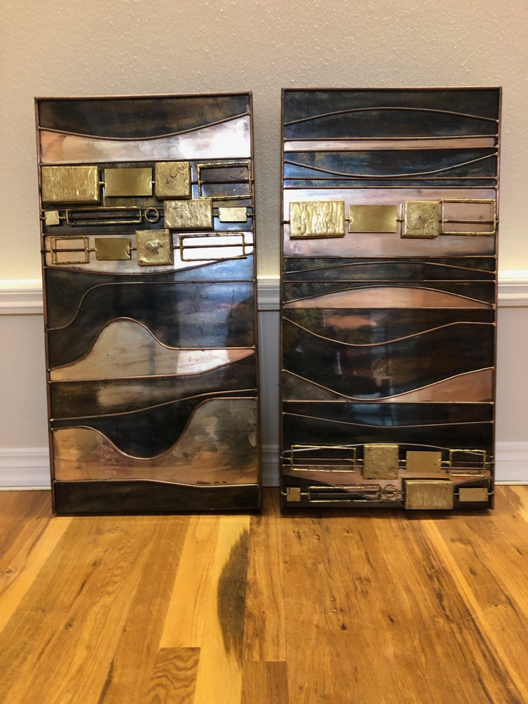 Abstract Mixed-Metal Wall Sculpture by Curtis Jeré In Good Condition For Sale In Denver, CO