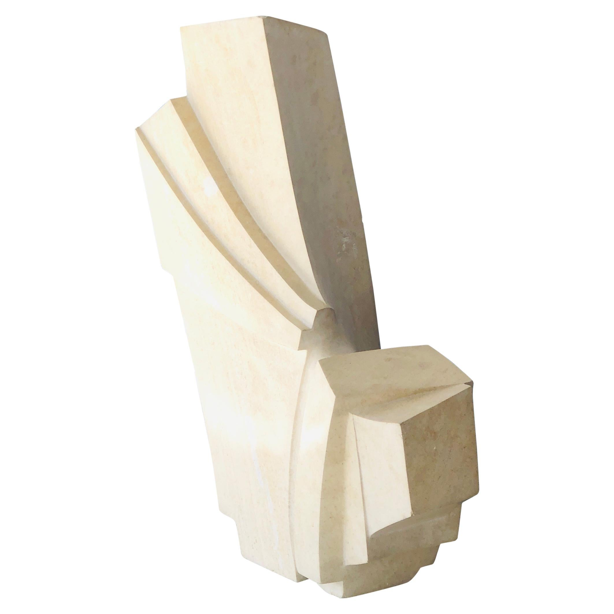 Abstract Modern Marble Sculpture, 1970s