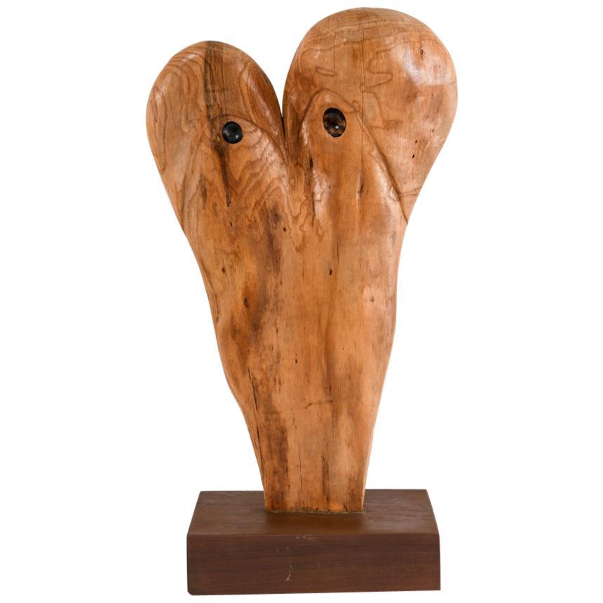 Abstract Modern Wood Sculpture