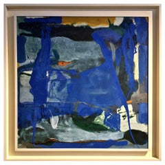 Abstract Modernist Painting, Signed and Dated, 1975