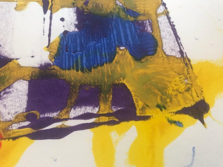 Abstract Monotype Sam Francis, 1980s In Good Condition For Sale In Los Angeles, CA