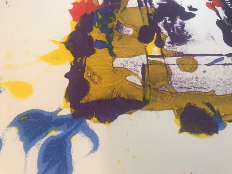 20th Century Abstract Monotype Sam Francis, 1980s For Sale