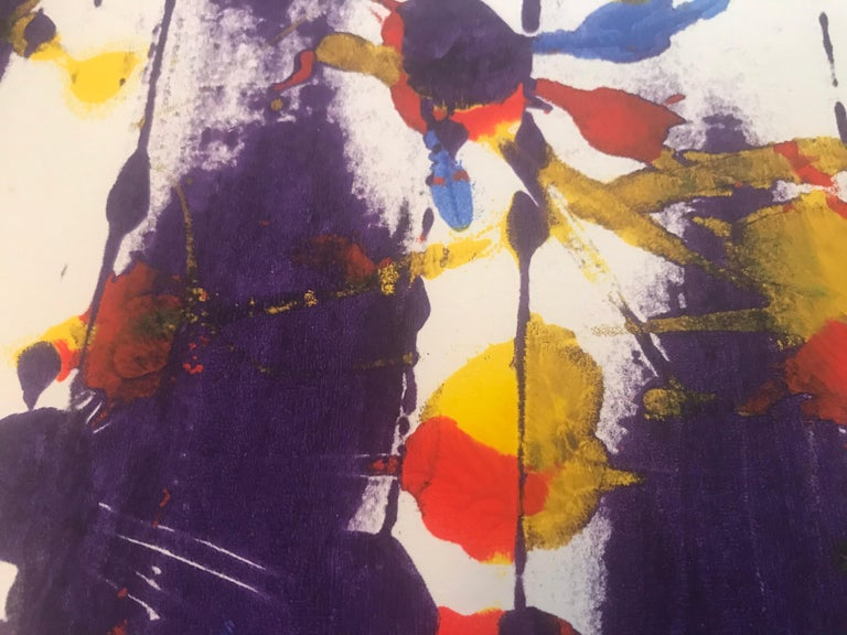 Abstract Monotype Sam Francis, 1980s For Sale 1