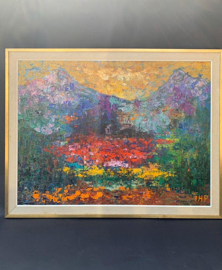 Beautiful autumn colors abstract mountain landscape by IHP.